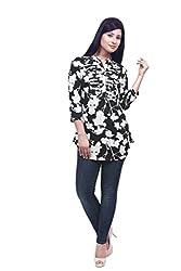 Wisstler Women's Multi Color Poly Crepe Tunics Size : X-Large