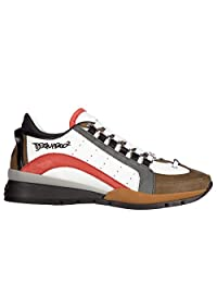 Dsquared2 men's shoes leather trainers sneakers 551 calfskin sport white