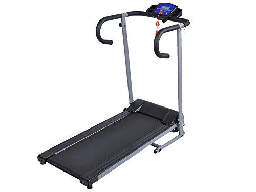 1100W Black Steel Portable Folding Electric Exercise Treadmill Pvc Running Belt