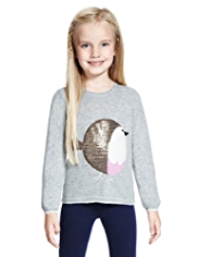 Sequin Embellished Robin Jumper with Angora