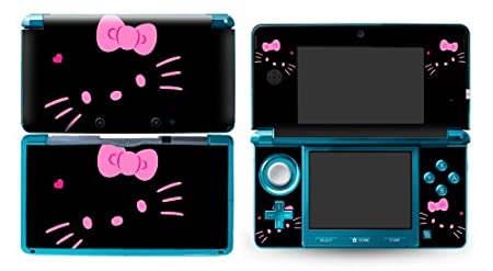 Bundle Monster Nintendo 3ds Vinyl Skin Cover Art Decal Sticker Protector Accessories - Kitty Black