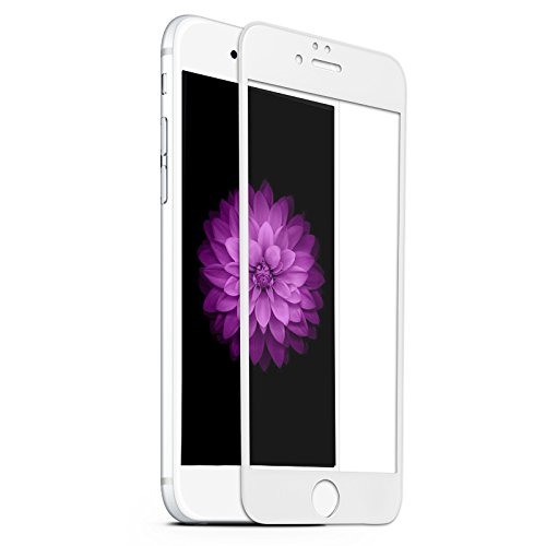 Benks Iphone6 Plus, 6s Plus, 3d Curved Edge to Edge Full Screen Protector, Anti-shock and Edge Shatter Absorption Glass (White)