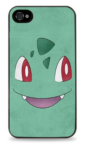 340 Bulbasaur Minimal Pokemon By Jorden Tually - Black Hardshell Case Cover For Iphone 4/4S front-49209