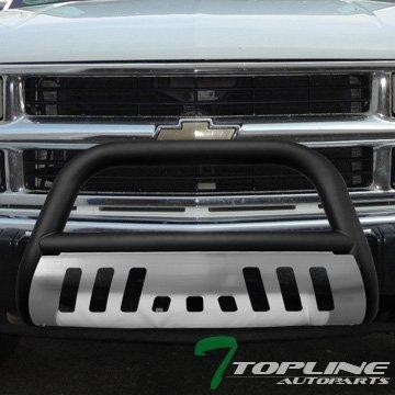 topline-autopart-matte-black-bull-bar-push-grill-grille-guard-skid-1988-gmc-c10-suburban-yukon-by-to