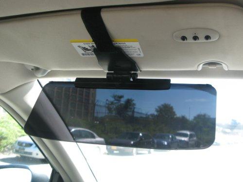 zone tech car anti glare tinted windshield extender black premium quality anti glare sun uv. Black Bedroom Furniture Sets. Home Design Ideas