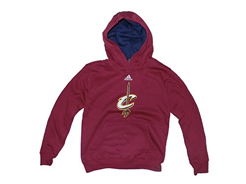 Cleveland Cavaliers Youth Bambino Adidas NBA Pullover Hooded SweatShirt Camicia