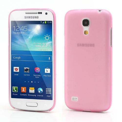 JUJEO Pink Ultra Thin Matte Hard Shell for Samsung Galaxy S4 mini i9192 - Non-Retail Packaging