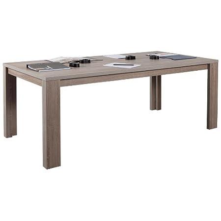 Tavolo riunione per ufficio color rovere tartufo