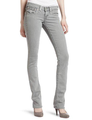 True Religion Women's Billy Straight Leg Jean, Seal, 24