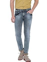 Showoff Men's Slim Fit Blue Denim Jeans