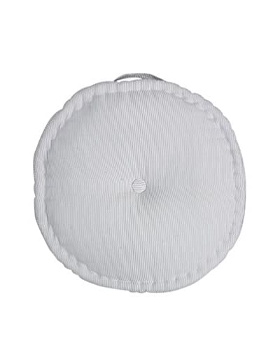 Lene Bjerre Laura Round Seat Cushion, White/Light Cement