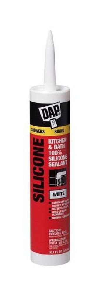 Dap Inc 08640 12 Pack 9.8 oz. Kitchen and Bath 100% Silicone Rubber Sealant