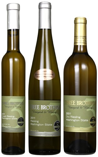Three Brothers Vineyard & Winery Rattlesnake Hills Full Range Of Riesling Mixed Pack, 2 X 750 Ml And 1 X 375 Ml