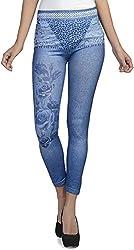 Addyvero Women's Slim Fit Jeggings (CL-WM-L0042, Blue, 32)