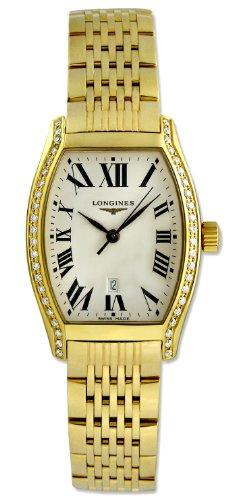 Longines Evidenza 18kt Gold & Diamond Womens Luxury Watch Calendar L2.155.7.71.6