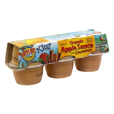 Earth'S Best Baby Foods Cinnamon Apple Sauce Cups, Six 4Oz Cups (Pack Of 12) front-477175
