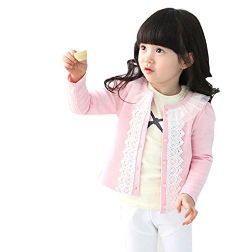 Towallmark(Tm)Cardigan Jacket Little Girls Baby Lace Long Sleeve Outwear Coat (4T)