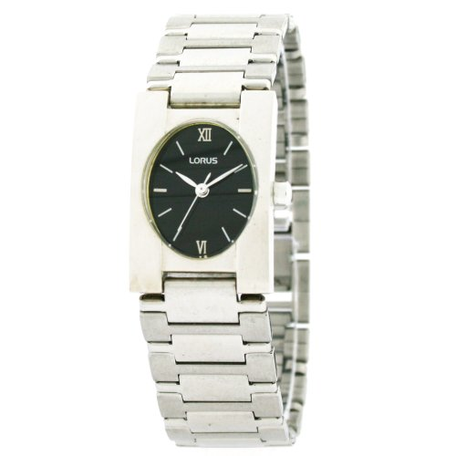 Lorus Ladies Watch Link Bracelet Black Dial