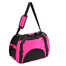 ColorPet Soft-Sided Pet Carrier, Comfortable Carrier, Adjustable and Foldable, Airline Approved Pet Travel Carrier Pink