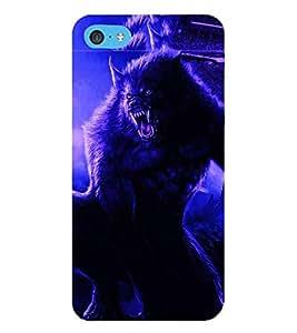 HiFi Designer Phone Back Case Cover Apple iPhone 6 Plus :: Apple iPhone 6+ ( Wolf Man Full Moon )