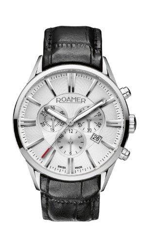 Roamer - 508837 41 15 05 - Montre Homme - Quartz - Chronographe - Bracelet Cuir Noir