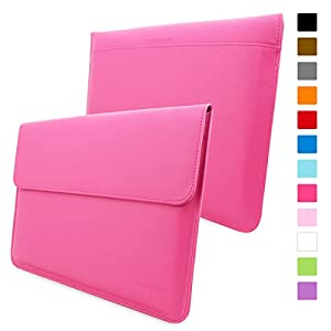 Snugg™ Macbook Pro 15 Case - Leather Sleeve with Lifetime Guarantee (Hot Pink) for Apple Macbook Pro 15