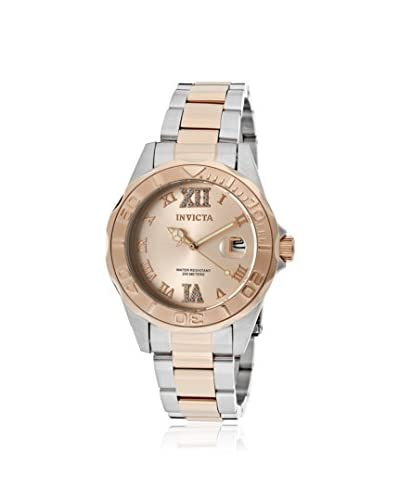Invicta Women's 12853 Pro-Diver Silver/Rose Gold Stainless Steel Watch