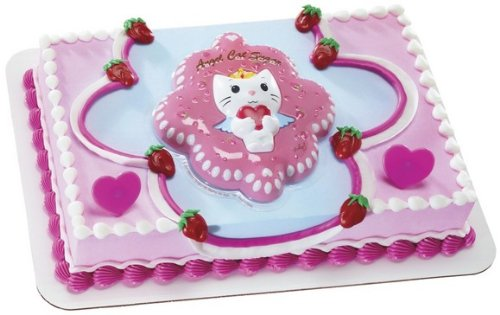 Decopac Angel Cat Sugar Loving Heart DecoSet Cake Topper - 1