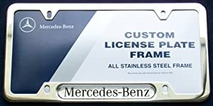 Genuine Mercedes Benz Stainless Steel License Plate Frame