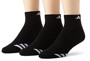 adidas Mens Cushioned 3 Stripe Low Cut Sock, 3-Pack, Shoe Size 6-12 by adidas