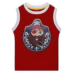 Boys Pirate printed Sleeveless tshirt