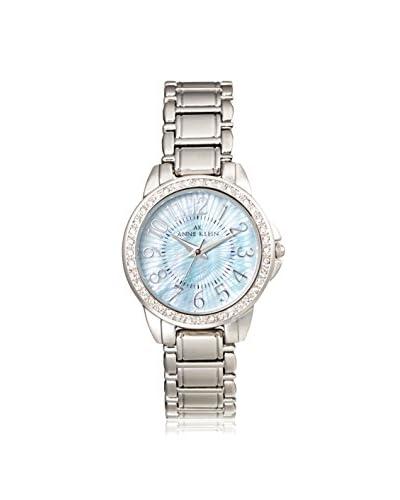 Anne Klein Women's Swaroski Steel Watch, Silver/Light Blue