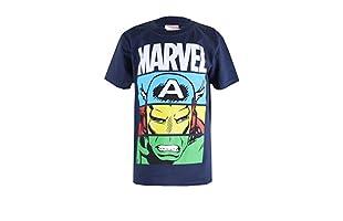 MARVEL Camiseta Manga Corta Heroes Unite (Azul Marino)