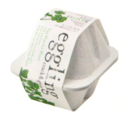 [植物 栽培 栽培セット ガーデン 手軽 癒し グリーン クローバー]<br>エッグリングエコフレンドリー 四つ葉のクローバー