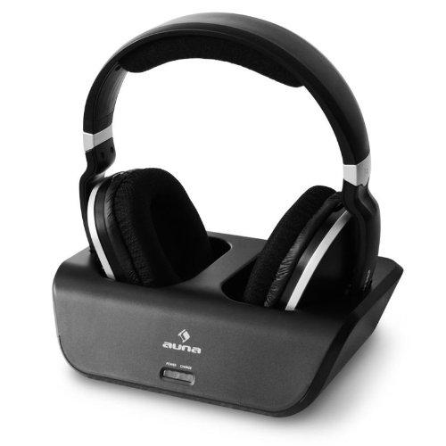 sans fil casque audio sans fil auna 2 4ghz port e 30 m avec pile. Black Bedroom Furniture Sets. Home Design Ideas