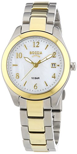 Boccia Women's Quartz Watch with Mother of Pearl Dial Analogue Display and Multicolour Titanium Bracelet B3224-02