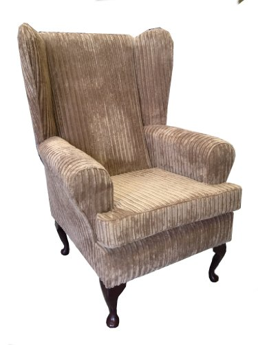 Queen Anne wing chair (Camel jumbo cord)