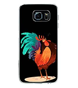 Printvisa Funny Cock Cartoon 2D Hard Polycarbonate Designer Back Case Cover For Samsung Galaxy S6 Edge+ :: Samsung Galaxy S6 Edge Plus :: Samsung Galaxy S6 Edge+ G928G :: Samsung Galaxy S6 Edge+ G928F G928T G928A G928I