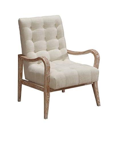 Armen Living Regis Accent Chair, Cream