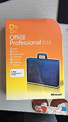 Microsoft Office Professional 2010 software 32/64-Bit(3 Computer/s)