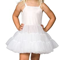 I.C. Collections Girls White Bouffant Slip Petticoat - Extra Full, Size 8