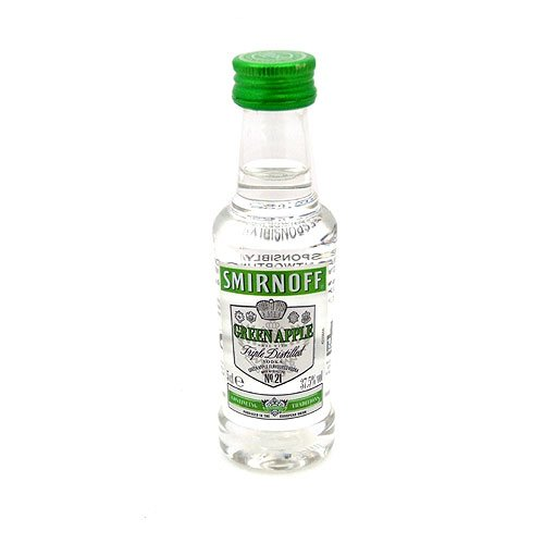 Smirnoff discount duty free Smirnoff Green Apple Flavoured Vodka 5cl Miniature