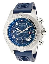 Men's Aeromarine Chronograph Blue Dial Blue Rubber
