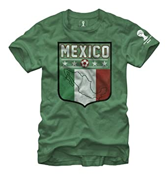 2014 FIFA World Cup Soccer - Mexico United Emblem Shield - T-Shirt (Small)