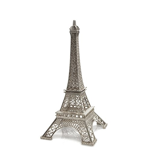 Silver Eiffel Tower Paris France Statue (25cm (10-inch)