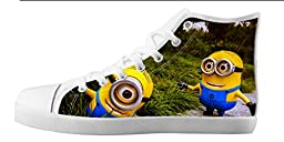 Renben Kids Boy\'s Despicable Me Minion Canvas Shoes Lace-up High-top Sneakers Fashion Running Shoes