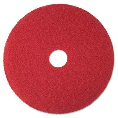 3M - Buffer Floor Pad 5100 12 Red 5/Carton Product Category: Breakroom And Janitorial/Cleaning Tools & Supplies boardwalk low density repro can liners 1 5mil equiv 1 1mil 55 60gal 38 x 58 100 ctn product category breakroom and janitorial waste receptacle liners