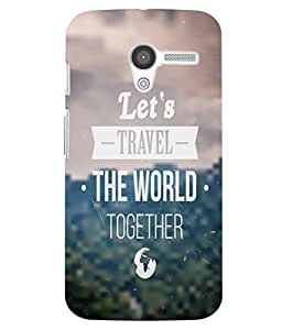 Back Cover for Moto X (1st Gen) Let's Travel the world together