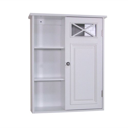 Why Should You Buy Elegant Home Fashions Dawson Collection Shelved Wall Cabinet with Storage Cubbies...