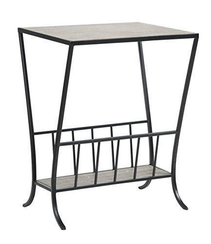Convenience Concepts Wyoming Magazine End Table, Antique (Antique Tv Trays compare prices)